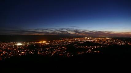 California Suburban Dusk to Night Time Lapse