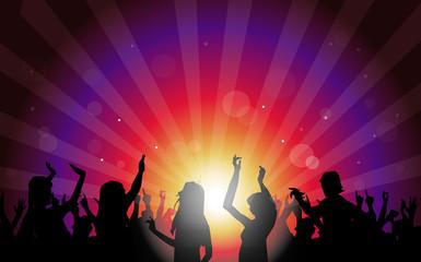 Night Club Party-Vector