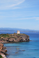 View from the island of Sant Antioco, Sardinia