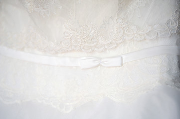 fragment of wedding dress - bow