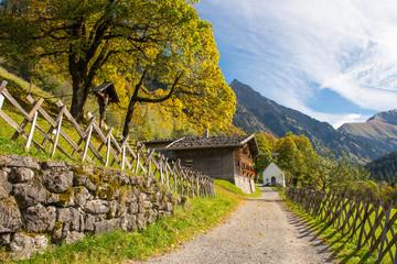Gerstruben Dorf in den Bergen des Allgäu