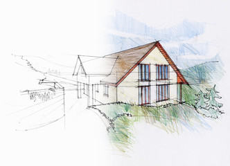 Dream of an architect. Study of a family house