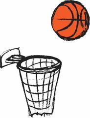 doodle basketball icon