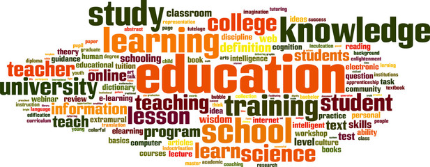 Education word cloud concept. Vector illustration
