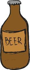 doodle bottle of beer