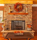 Outdoor Deck with Fireplace - 72374148