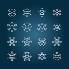 Chalk snowflakes - Set7 collection