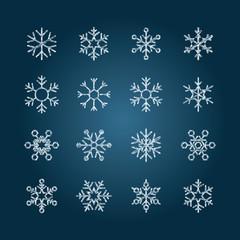 Chalk snowflakes - Set7 collection