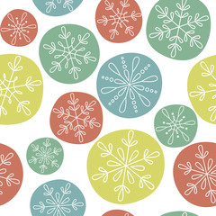 Snowflakes seamless pattern for Christmas and winter design