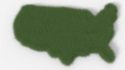 USA map texture erba