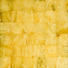 Honey yellow marble mosaic