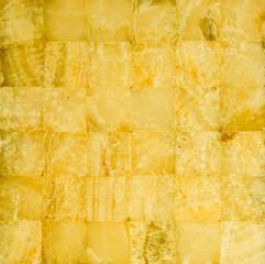 Honey yellow marble mosaic