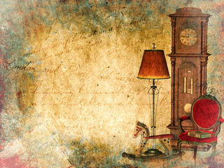 Grunge Background, vintage illustration