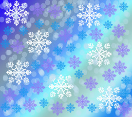 Snowflakes against a gradient