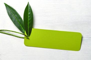 Karton-Etikett-naturgrün