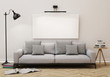 3D model of living room,poster on the wall, background