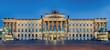 Leinwanddruck Bild - Schloss Braunschweig beleuchtet
