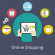 Online Shopping  infographic. - 72377393