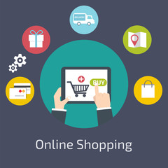 Online Shopping  infographic.