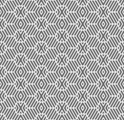 Seamless geometric texture. Hexagons pattern