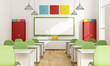 canvas print picture - Colorful Classroom