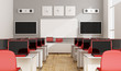 canvas print picture - Modern multimedia classroom