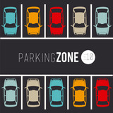 Fototapety Parking design