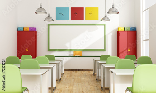 canvas print picture Colorful Classroom
