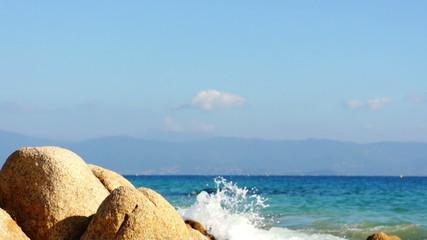 Turquoise of mediterranean sea, Corsica