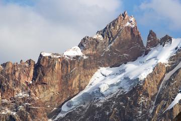 peak of mountains, central Asia, Tajikistan