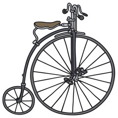 Hand drawing of a vintage bicycle