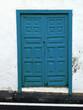 canvas print picture - Blaue Tür