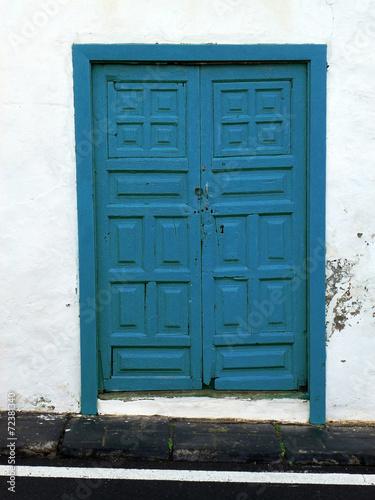canvas print picture Blaue Tür