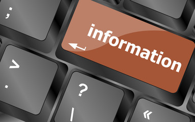 information word on computer pc keyboard key