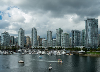 Vancouver Skyline Overlooking False Creek