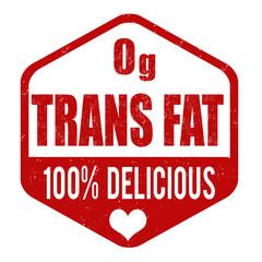 Zerop grams trans fat stamp