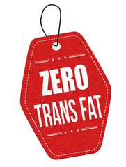 Zero trans fat label or price tag