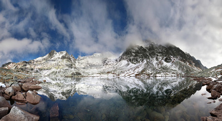 Crystal Lake in the rocky mountains