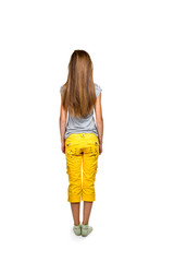 Girl standing back to camera