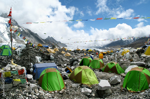 In de dag Alpinisme Tents at Everest Base Camp