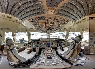 Boeing 767 aircraft cockpit