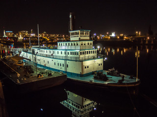 The Sternwheel Steam Tug Portland on the Willamette River