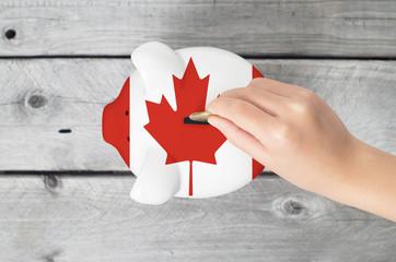 Canada saving concept