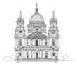 St. Pauls cathedral, London. Sketch collection - 72385753