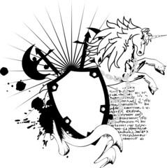 heraldic horse unicorn coat of arms crest