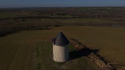 Moulin à vent vue aérienne