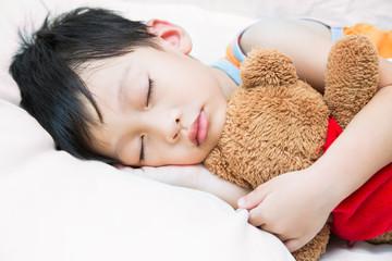 Asia child sleeping