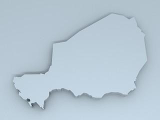 niger map 3D