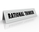 Rational Thinker Name Tent Card Reason Sensible Thought Speaker