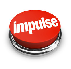 Impulse Word 3d Red Button Emotional Choice Purchase Shopping